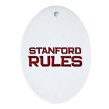 stanford rules Oval Ornament