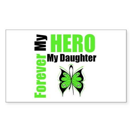 Lymphoma Hero Daughter Rectangle Sticker