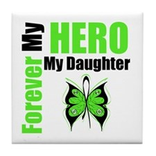 Lymphoma Hero Daughter Tile Coaster
