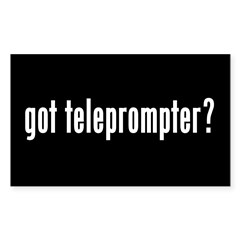 got teleprompter? Rectangle Sticker 10 pk)