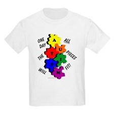 One Day The Pieces Will Fit Primary T-Shirt