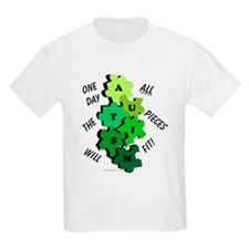 One Day The Pieces Will Fit Green T-Shirt