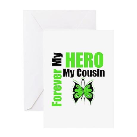 Lymphoma Hero Cousin Greeting Card