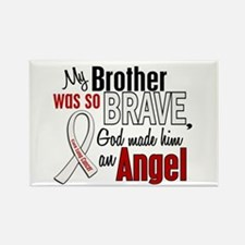 Angel 1 BROTHER Lung Cancer Rectangle Magnet