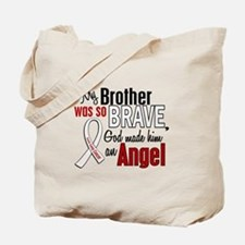 Angel 1 BROTHER Lung Cancer Tote Bag