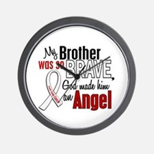 Angel 1 BROTHER Lung Cancer Wall Clock