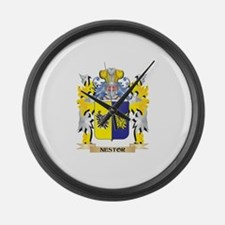 Nestor Coat of Arms - Family Cres Large Wall Clock