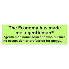 Gentleman Bumper Bumper Sticker