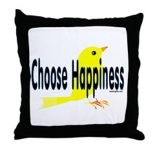 Happiness Choice Throw Pillow