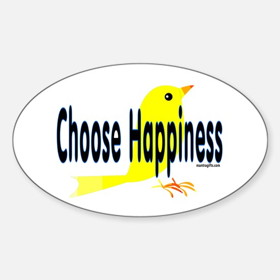 Happiness Choice Oval Decal