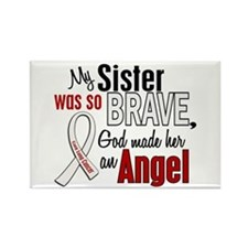 Angel 1 SISTER Lung Cancer Rectangle Magnet