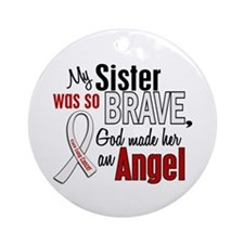 Angel 1 SISTER Lung Cancer Ornament (Round)