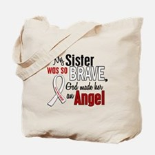 Angel 1 SISTER Lung Cancer Tote Bag