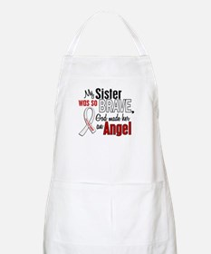 Angel 1 SISTER Lung Cancer BBQ Apron