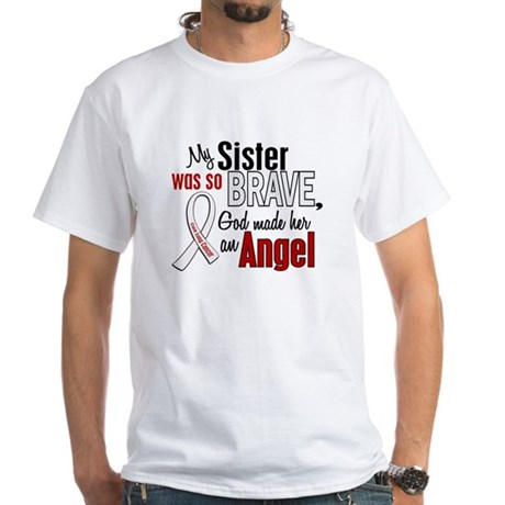 Angel 1 SISTER Lung Cancer White T-Shirt