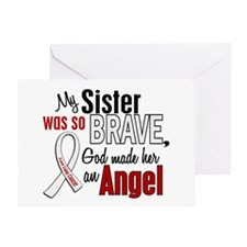 Angel 1 SISTER Lung Cancer Greeting Card