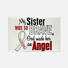 Angel 1 SISTER Lung Cancer Rectangle Magnet (10 pa