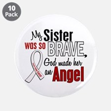 """Angel 1 SISTER Lung Cancer 3.5"""" Button (10 pack)"""