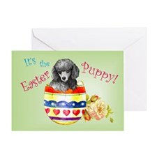 Easter Poodle Greeting Card