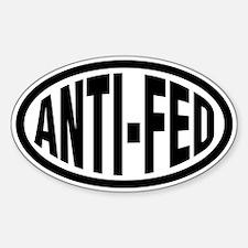 Anti-Fed Oval Decal