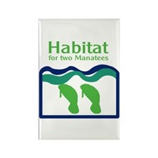 Habitat for two Manatees Rectangle Magnet