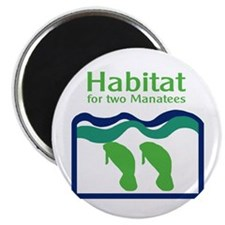 Habitat for two Manatees Magnet