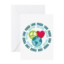 Peace Love Earth Day Greeting Card