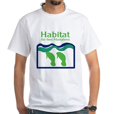 Habitat for two Manatees White T-Shirt
