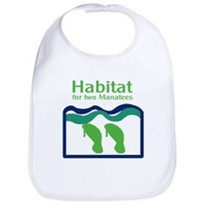 Habitat for two Manatees Bib