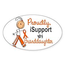 iSupport My Granddaughter SFT Orange Decal