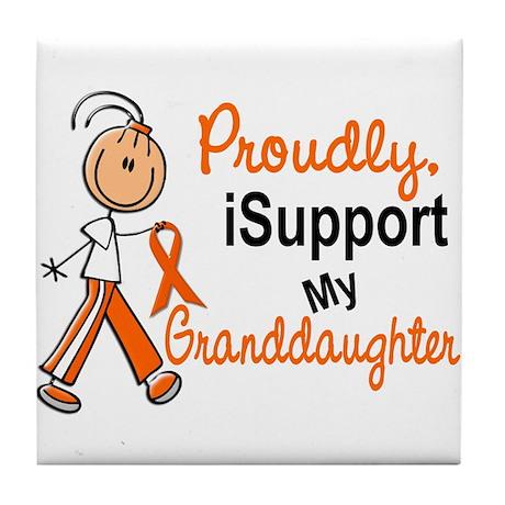 iSupport My Granddaughter SFT Orange Tile Coaster