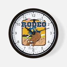 Rodeo Bull Ride Wall Clock