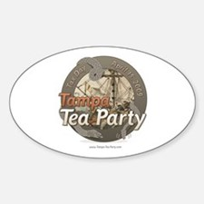 Tampa Tax Day Tea Party Oval Decal
