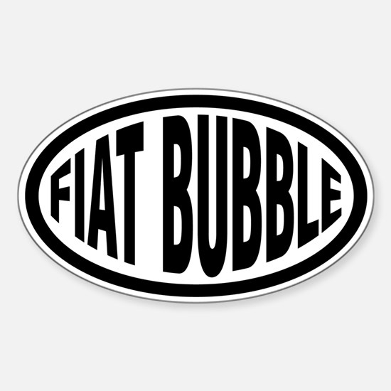 Fiat Bubble Oval Decal