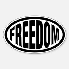 Freedom Oval Decal
