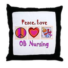 OB Nurse Throw Pillow