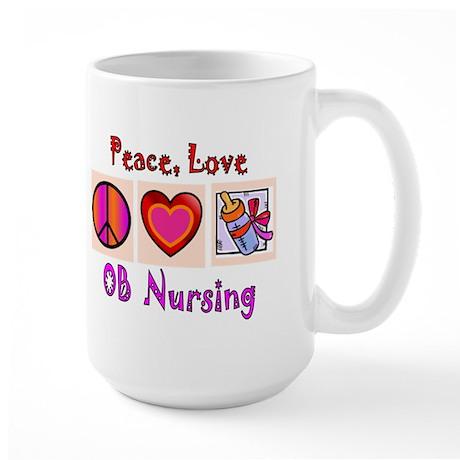 OB Nurse Large Mug