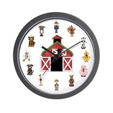Farm Kids Wall Clock