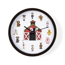 Farm Kids Wall Clock