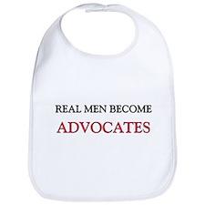 Real Men Become Advocates Bib