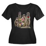 Meerkat Women's Plus Size Scoop Neck Dark T-Shirt