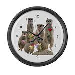 Meerkat Large Wall Clock