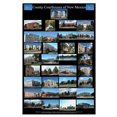 New Mexico County Courthouses Large Black Poster