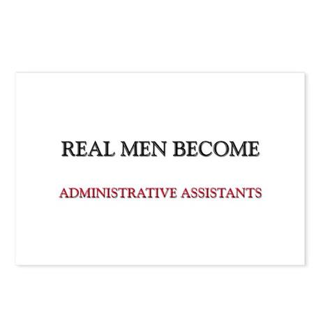 Real Men Become Administrative Assistants Postcard