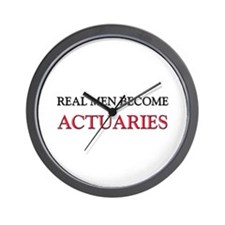 Real Men Become Actuaries Wall Clock