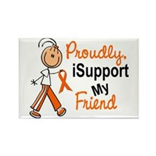 iSupport My Friend SFT Orange Rectangle Magnet