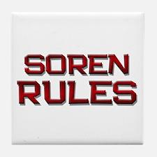 soren rules Tile Coaster