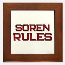 soren rules Framed Tile