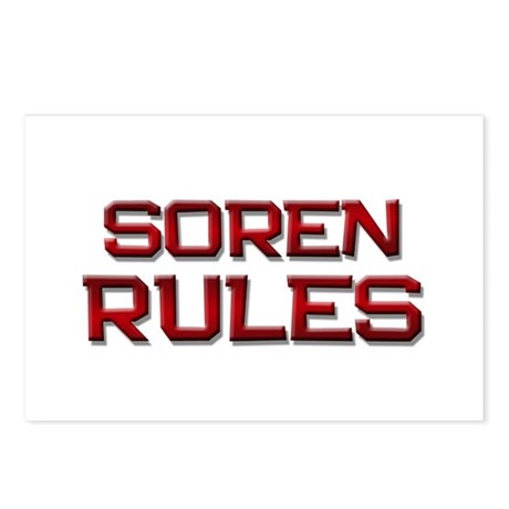 soren rules Postcards (Package of 8)
