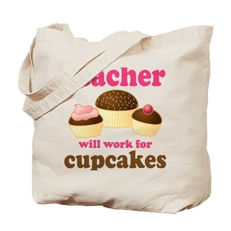 Funny Cupcake Teacher Tote Bag